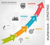business timeline infographic...   Shutterstock .eps vector #219037402