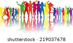 dancing silhouettes | Shutterstock .eps vector #219037678