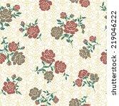 pattern of rose  | Shutterstock .eps vector #219046222
