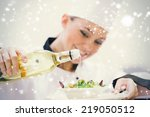 Smiling Woman Chef Dressing A...