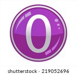 button with number 0 | Shutterstock .eps vector #219052696