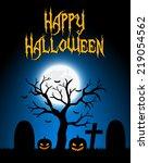 halloween card | Shutterstock .eps vector #219054562