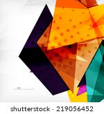 modern 3d glossy overlapping...   Shutterstock . vector #219056452
