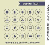 simple thin server icons on...