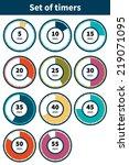 set of timers. set of eleven... | Shutterstock .eps vector #219071095