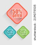 flat sale badge label set | Shutterstock .eps vector #219075535