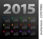 minimalistic multicolor 2015... | Shutterstock .eps vector #219079882