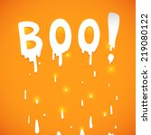 happy halloween orange... | Shutterstock .eps vector #219080122
