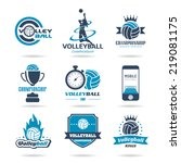 volleyball icon set   2 | Shutterstock .eps vector #219081175