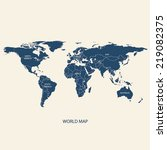 world map illustration vector... | Shutterstock .eps vector #219082375