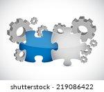 industrial essentials concept... | Shutterstock . vector #219086422