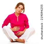 image of pregnant woman... | Shutterstock . vector #219094255