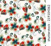 seamless pattern with bright... | Shutterstock .eps vector #219104362
