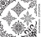 classic crner set on white | Shutterstock . vector #219104956
