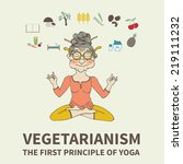 vegetarianism. the principles... | Shutterstock .eps vector #219111232