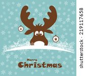 christmas illustration with... | Shutterstock .eps vector #219117658
