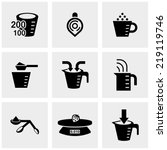 measuring cup vector icons set... | Shutterstock .eps vector #219119746