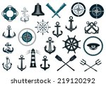 set of nautical or naval icons... | Shutterstock .eps vector #219120292