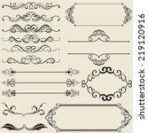 the calligraphy design nice set  | Shutterstock . vector #219120916