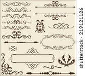baroque ornate set  isoladed on ... | Shutterstock . vector #219121126