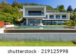 luxury villa with infinity pool | Shutterstock . vector #219125998