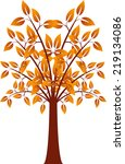 orange leaf tree  tree vector   Shutterstock .eps vector #219134086