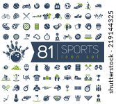 sport vector icons for web and... | Shutterstock .eps vector #219144325