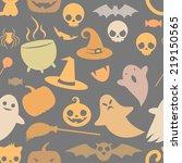 pale  seamless pattern of cute... | Shutterstock .eps vector #219150565