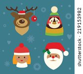 holiday characters set | Shutterstock .eps vector #219153982