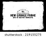 design template.abstract grunge ... | Shutterstock .eps vector #219155275