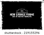 design template.abstract grunge ... | Shutterstock .eps vector #219155296