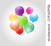 color glossy balloons... | Shutterstock .eps vector #219163936