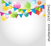 color glossy balloons... | Shutterstock .eps vector #219163942