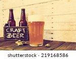 craft beer in bar | Shutterstock . vector #219168586