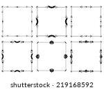 happy halloween  frame isolated ...   Shutterstock .eps vector #219168592