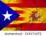 waving spain and independent... | Shutterstock . vector #219171472