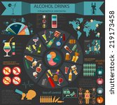 alcohol drinks infographic.... | Shutterstock .eps vector #219173458