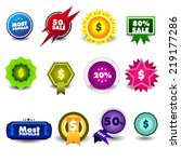 fantasy badges   sales tags .   Shutterstock .eps vector #219177286