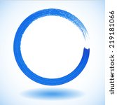 blue paintbrush circle vector...   Shutterstock .eps vector #219181066