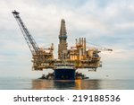 oil rig platform in the calm sea | Shutterstock . vector #219188536