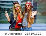 bright stylish lifestyle urban... | Shutterstock . vector #219191122