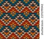 traditional tribal aztec... | Shutterstock .eps vector #219199042