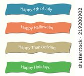 text strips | Shutterstock . vector #219200902