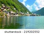 hallstatt village austria  | Shutterstock . vector #219202552