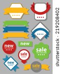 web sale banner badge | Shutterstock .eps vector #219208402