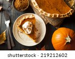 Homemade pumpkin pie for...