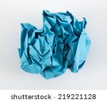 image of paper crumpled blue... | Shutterstock . vector #219221128
