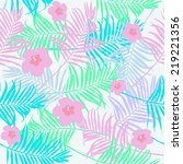 tropical design background with ... | Shutterstock .eps vector #219221356