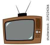 icon of the old television with ... | Shutterstock . vector #219224266