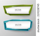 vector banners set | Shutterstock .eps vector #219228745